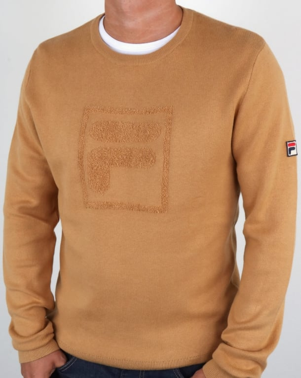 Fila Vintage Savoldi Crew Neck Jumper Apple Cinnamon