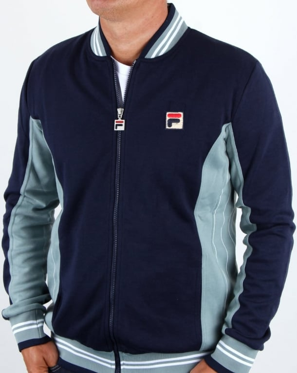 Fila Vintage Settanta Pro F badge Track Top Navy/Steel