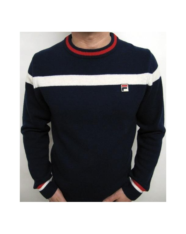 Fila Vintage Siro Jumper Navy/cream/red