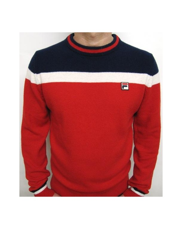 Fila Vintage Siro Jumper Red/cream/navy