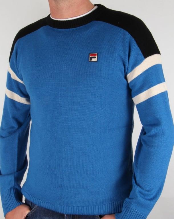 Fila Vintage ski knit Jumper Ski Blue