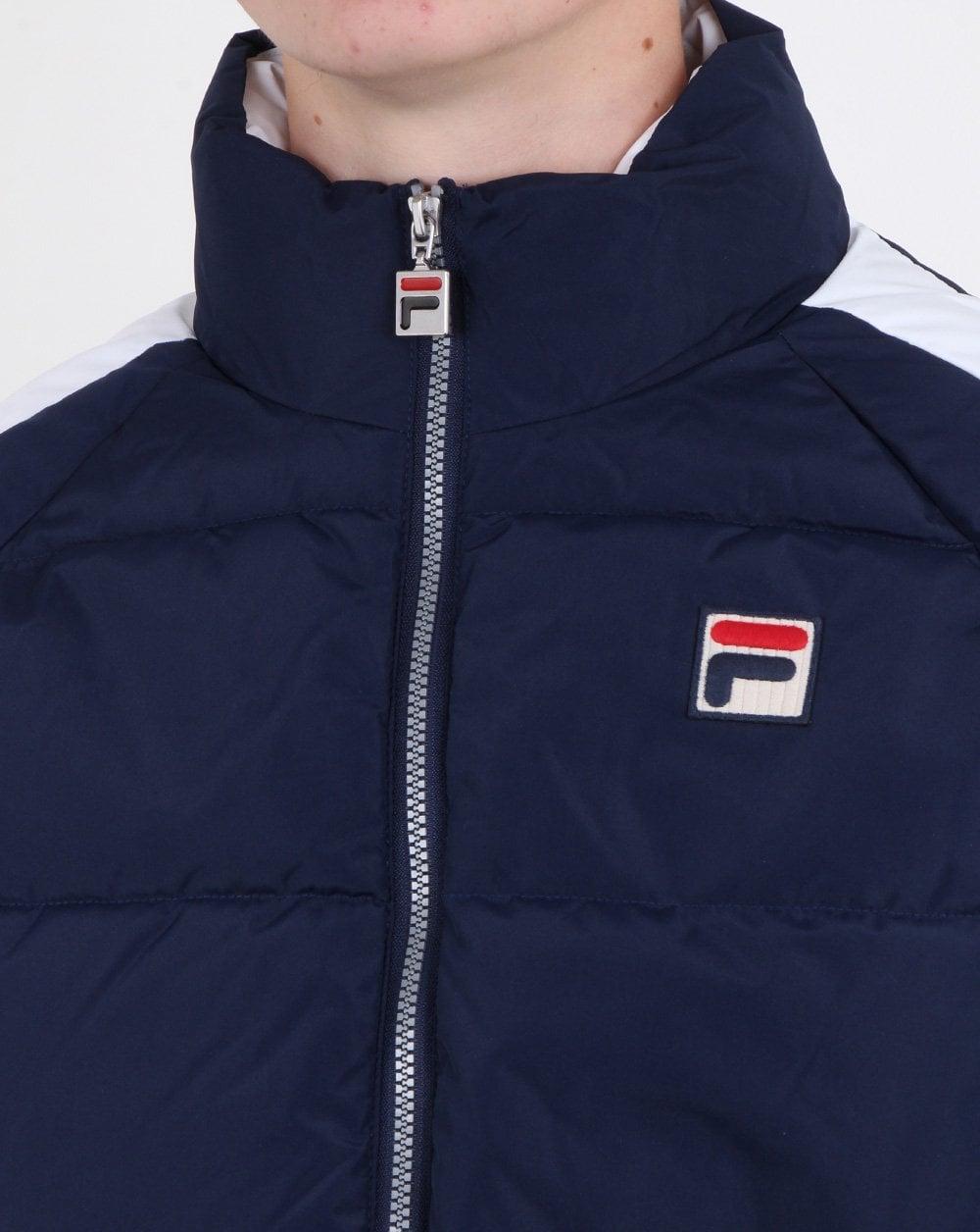 1b1f3c954 Fila Vintage Ski Puffer Jacket Navy/white