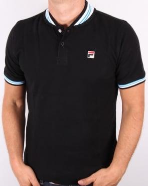 Fila Vintage Skippa Polo Shirt Black