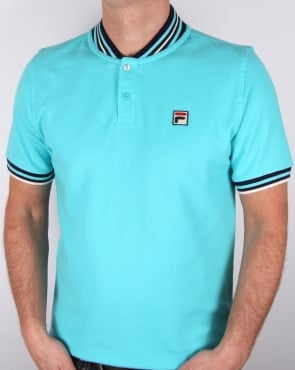 Fila Vintage Skipper Polo Shirt Blue Radience