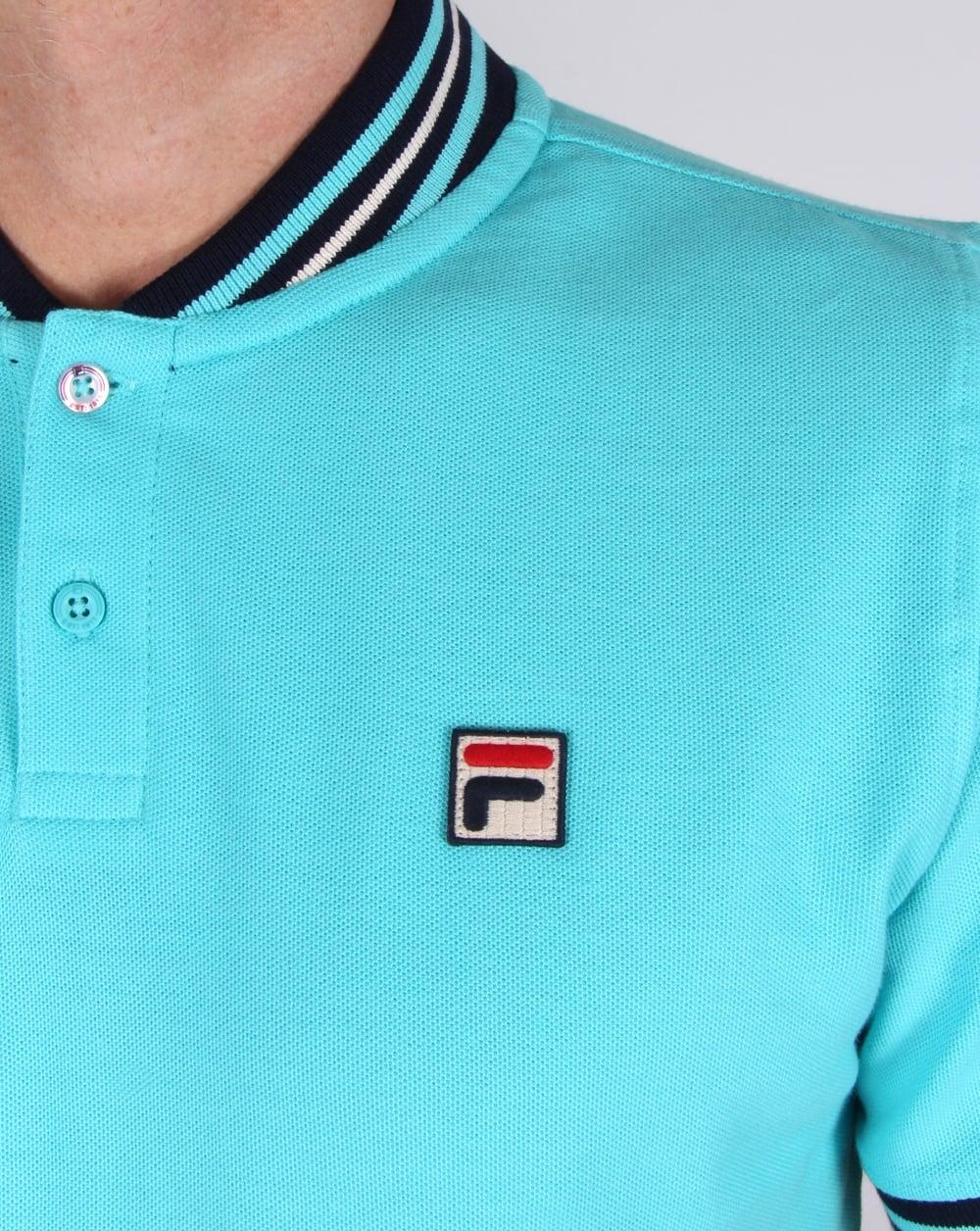 231e4df85b9 Fila Vintage Skipper Polo Shirt Blue Radience