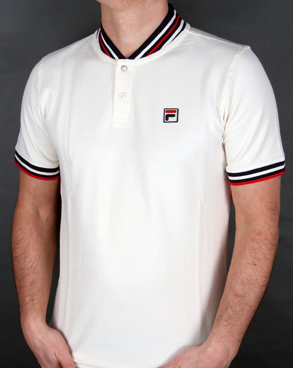 d068fb1137 Fila Vintage Skipper Polo Shirt Gardenia, Men's, Cotton, Top