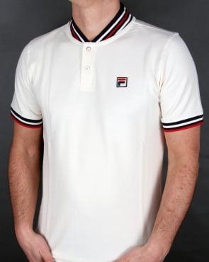 Fila Vintage Skipper Polo Shirt Gardenia