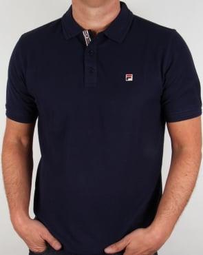 Fila Vintage Smarta Polo Shirt Navy