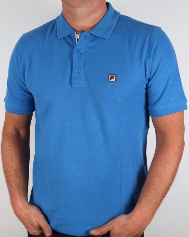 Fila Vintage Smarta Polo Shirt Ocean Blue