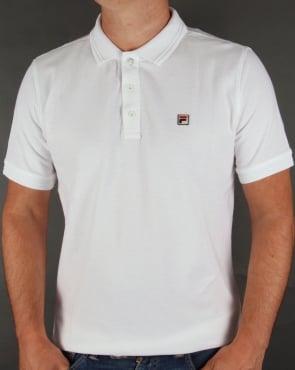 Fila Vintage Smarta Polo Shirt White