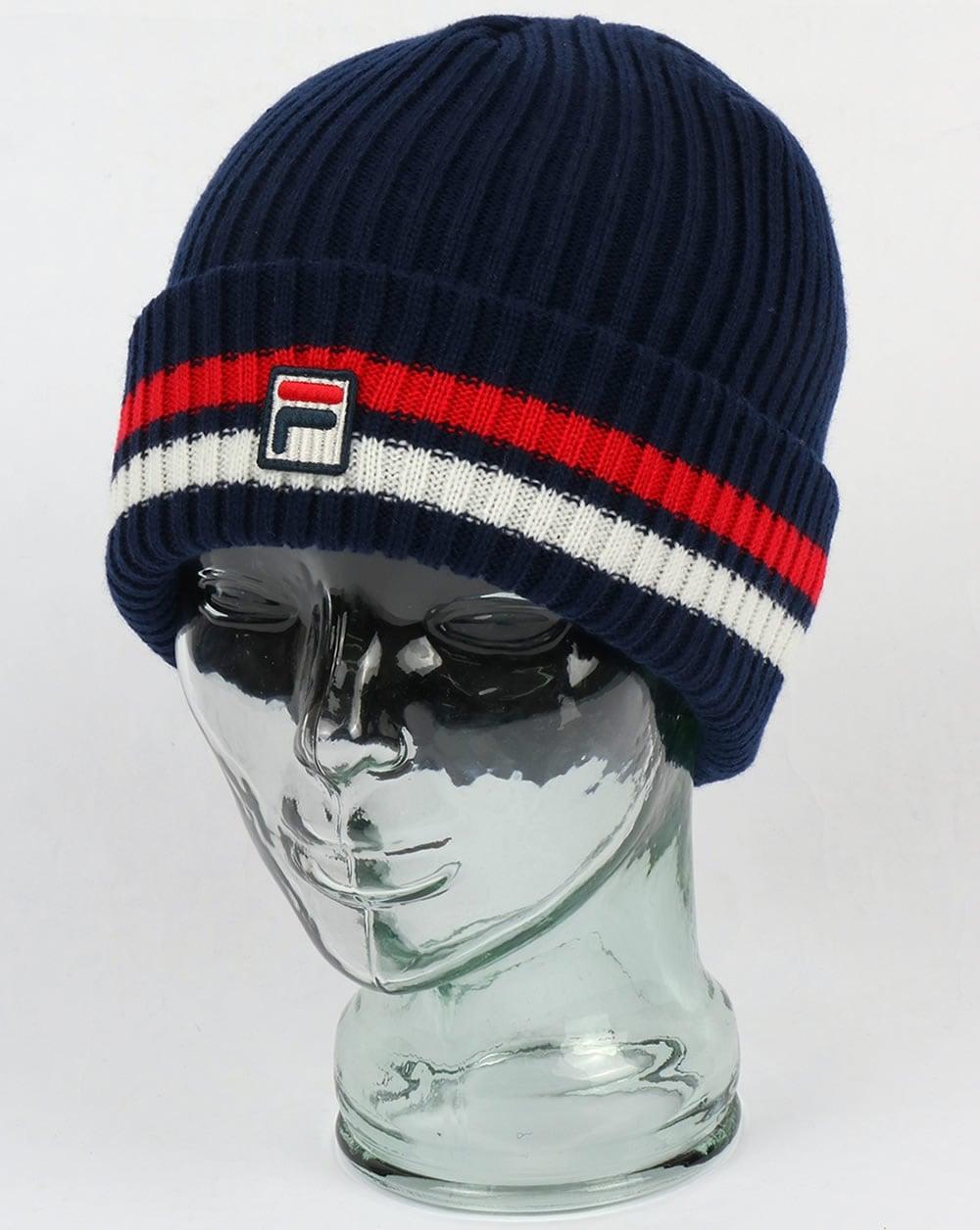 d8848d40e7f Fila Vintage Snow Time Beanie Navy red white - fila vintage beanie hat