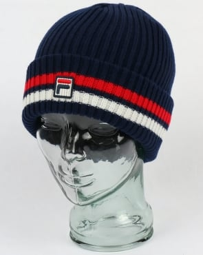 Fila Vintage Snow Beanie Navy/red/white