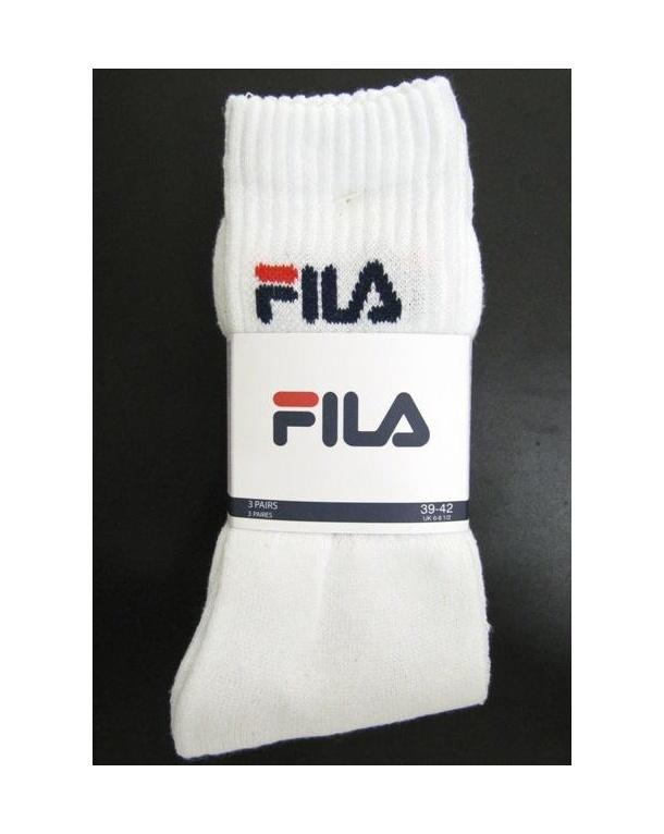 Fila Vintage Sports Socks 3 Pack White