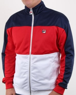 Fila Vintage Sterling Track Top Navy/red/white