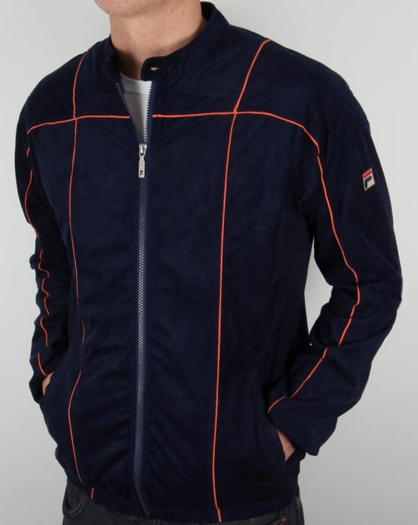 Fila Vintage Terrinda Mk3 Track Top Navy/Orange