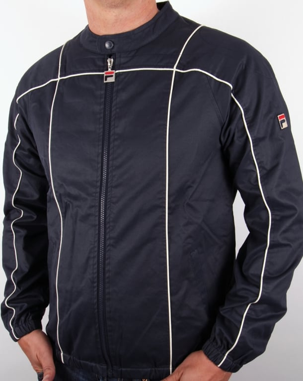 Fila Vintage Terrinda Wax Track Top Navy