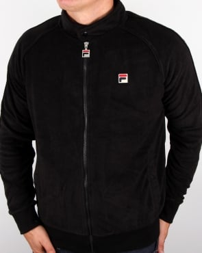Fila Vintage Terry Biker Track Top Black