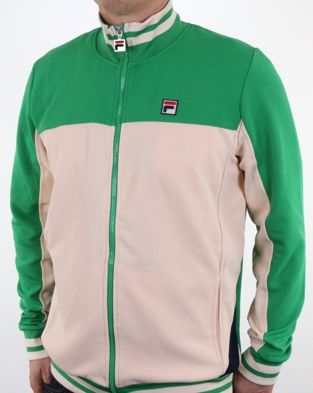 c01a9ab4 Fila Vintage Tiebreaker Track Top Gardenia/Green,tracksuit,jacket,mens
