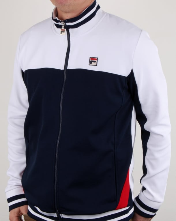 Fila Vintage Tiebreaker Track Top White/navy/red