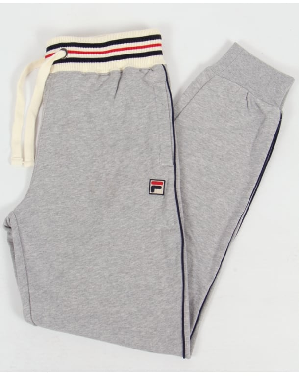Fila Vintage Tigli Cuffed Track Bottoms Light Grey