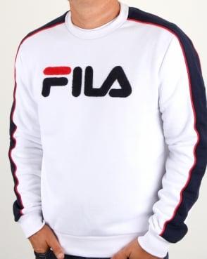 Fila Vintage Toby Sweatshirt White