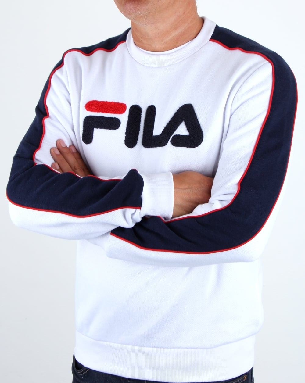 sweat shirt fila vintage. Black Bedroom Furniture Sets. Home Design Ideas