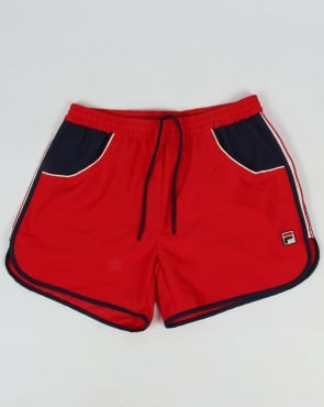 Fila Vintage Tomas Beach Swim Shorts Red