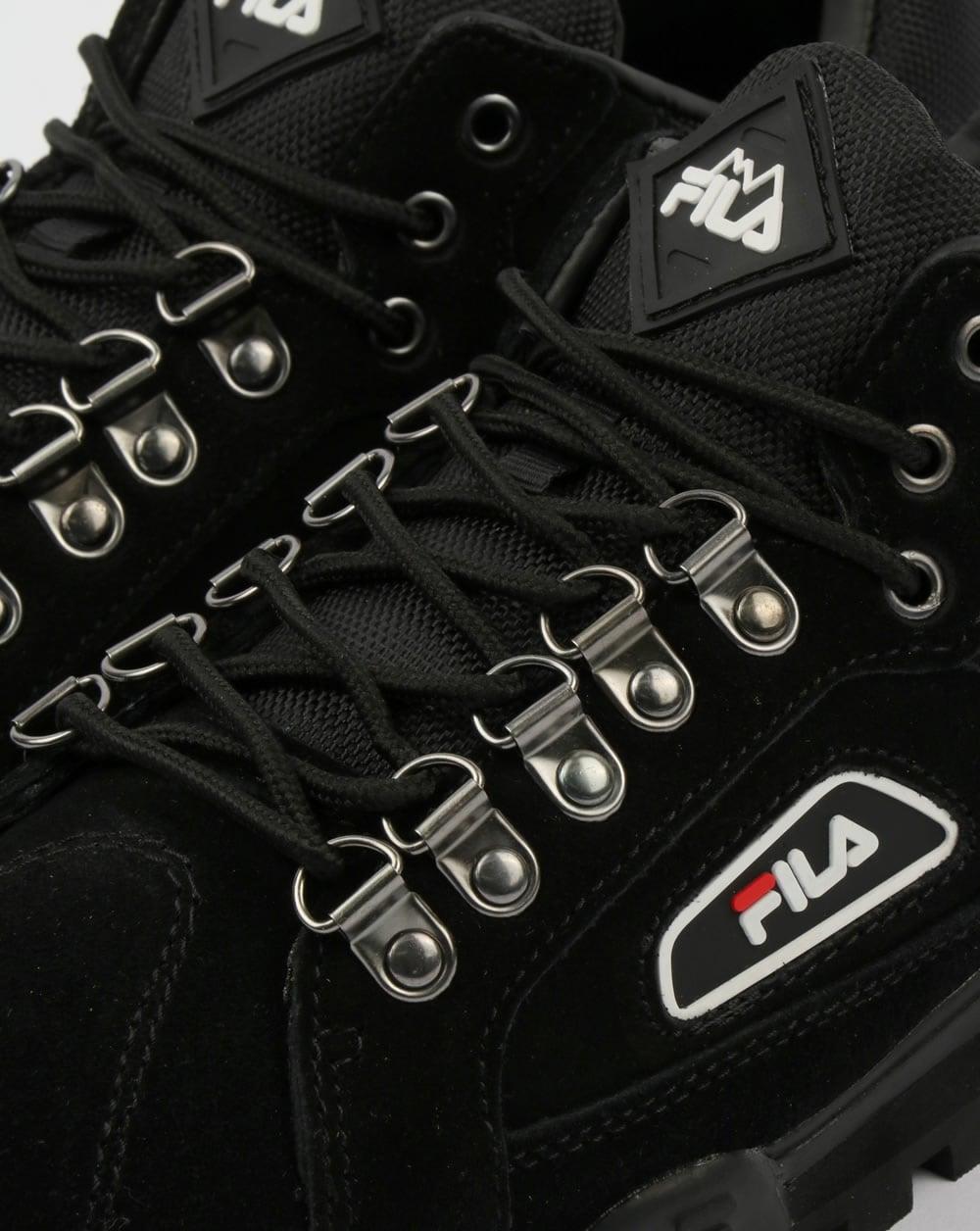 Fila Vintage Trailblazer Suede Boots Black Hiking Mens Biking