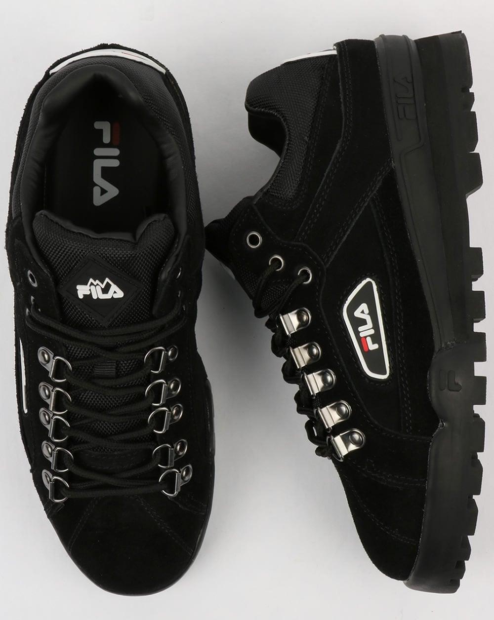 5b68fd5bdd4f Fila Vintage Trailblazer Suede Boots Black