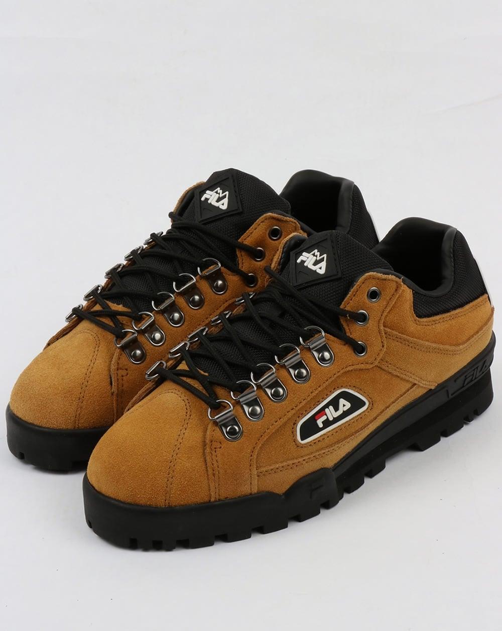 Fila Vintage Trailblazer Suede Boots Honey Mustard Hiking