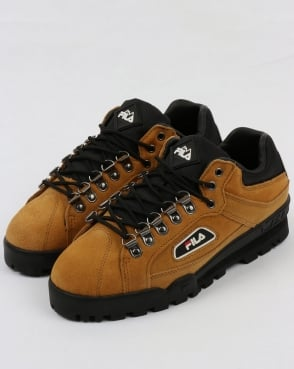 Fila Vintage Trailblazer Suede Boots Honey Mustard Yellow