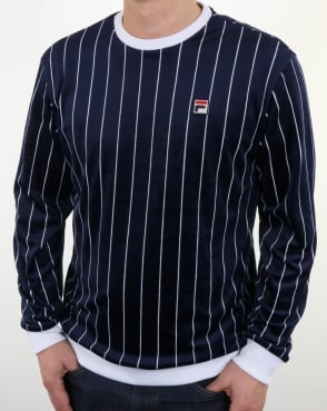 Fila Vintage Valencia Velour Sweatshirt Navy
