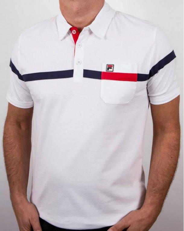 Fila Vintage Varelli Polo Shirt White