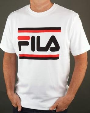 Fila Vintage Vialli T Shirt White