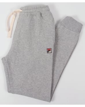Fila Vintage Vico Cuffed Track Bottoms Grey Marl