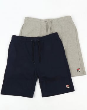 Fila Vintage Viktor Shorts Twin Pack Navy/Grey