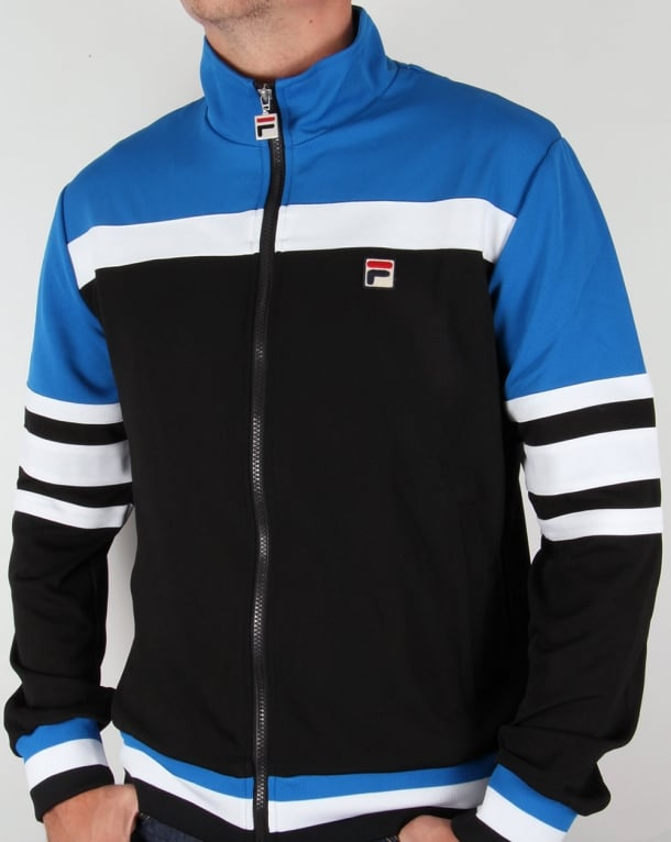 Fila Vintage Vila Track Jacket Black/Royal