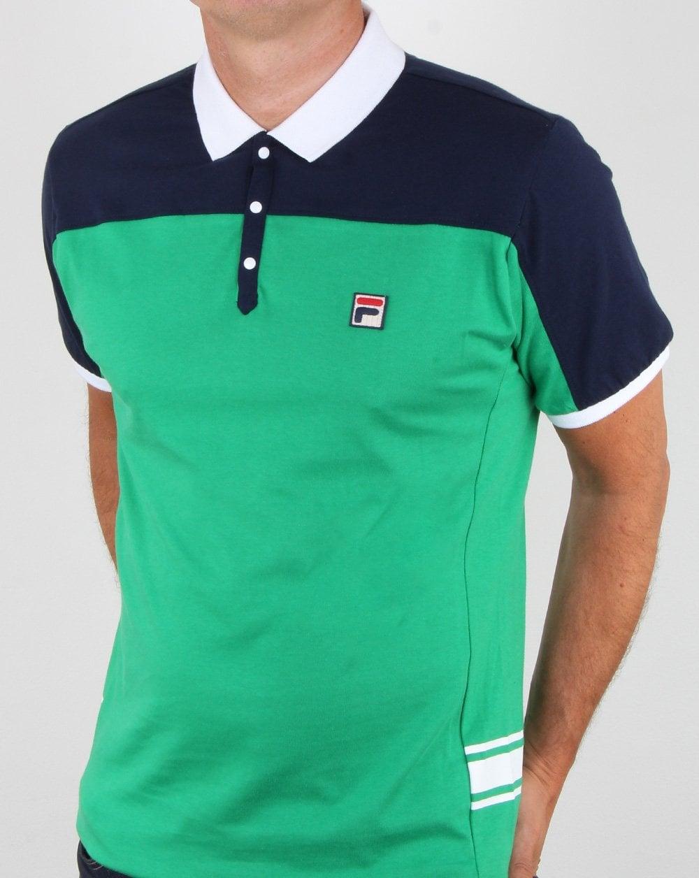 39f38fed5d4fd Fila Vintage vilas Polo Shirt, Green, Mens, Mivvi, Polo, Tennis,Borg