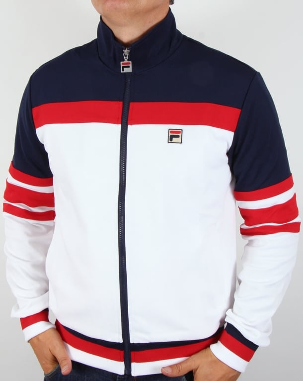 Fila Vintage Vilas Track Jacket White/Red/Navy
