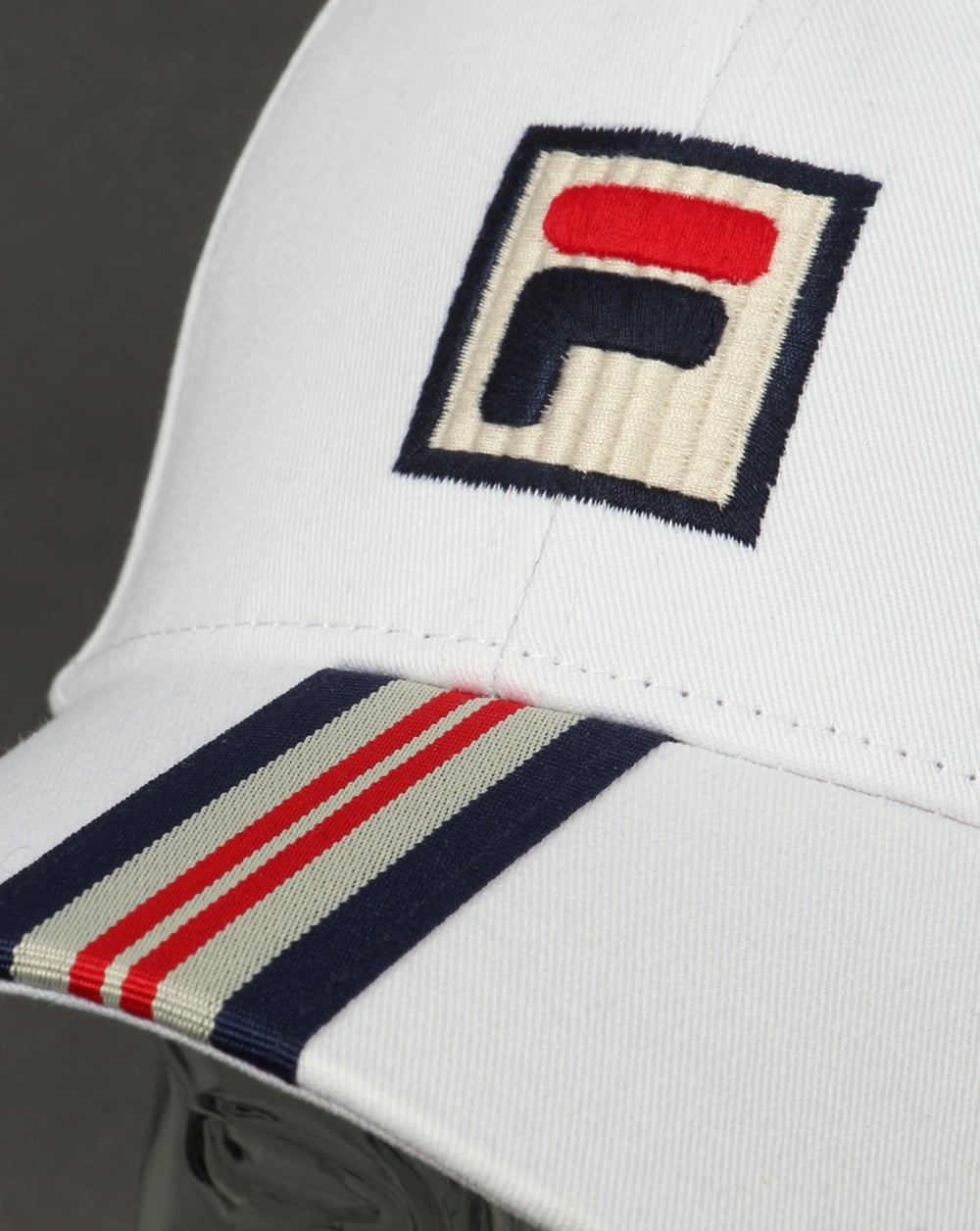 807d5414cd18d5 Fila Vintage Walker Baseball Cap White - fila baseball cap, white
