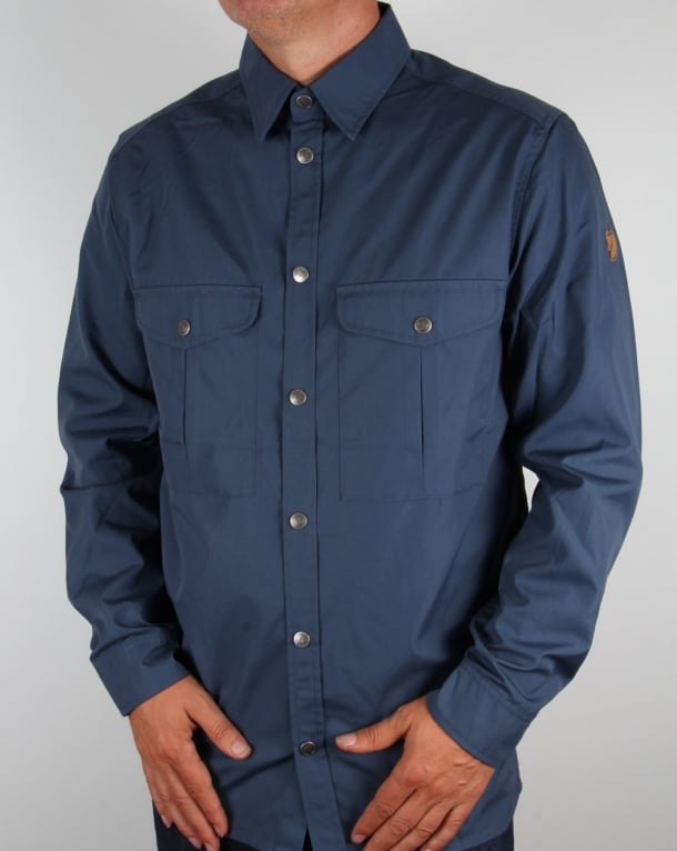Fjallraven Greenland Shirt Uncle Blue - Fjallraven from 80s Casual Classics UK