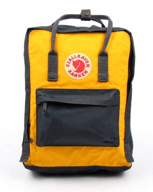 Fjallraven Kanken Navy/yellow