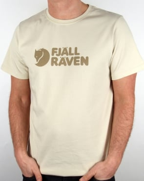 Fjallraven Logo T Shirt Chalk White