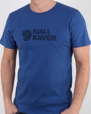 Fjallraven Logo T Shirt Deep Blue