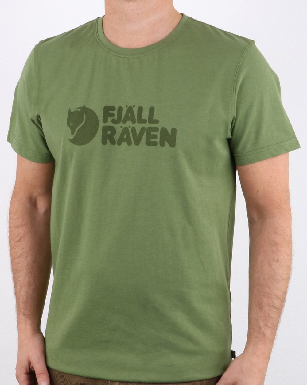 77536357bb Fjallraven Logo T Shirt Deep Fern, Mens, Tee, Cotton, Crew Neck