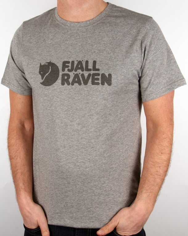 Fjallraven Logo T Shirt Grey