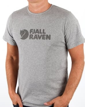 Fjallraven Logo T-shirt Grey