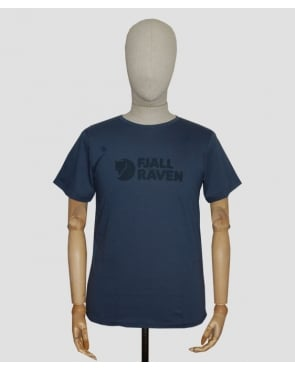 Fjallraven Logo T-shirt Uncle Blue