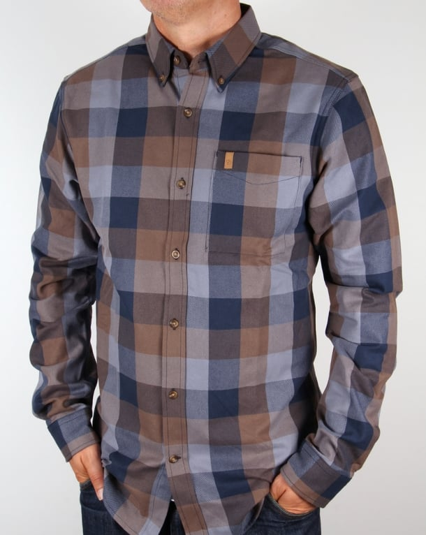Fjallraven Ovik Big Check Shirt Blueberry