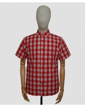 Fjallraven Ovik Button Down Shirt Deep Red